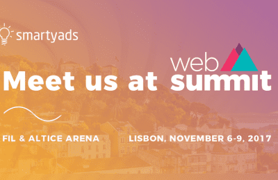 The SmartyAds team joins Web Summit