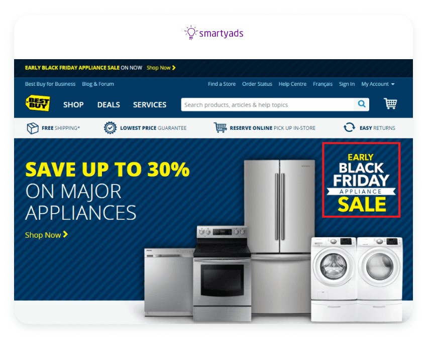 extending sale advertising example