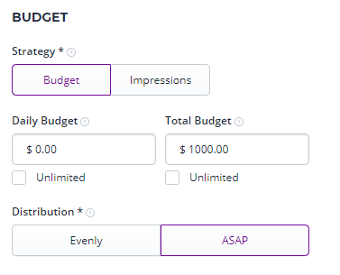 DSP budget settings