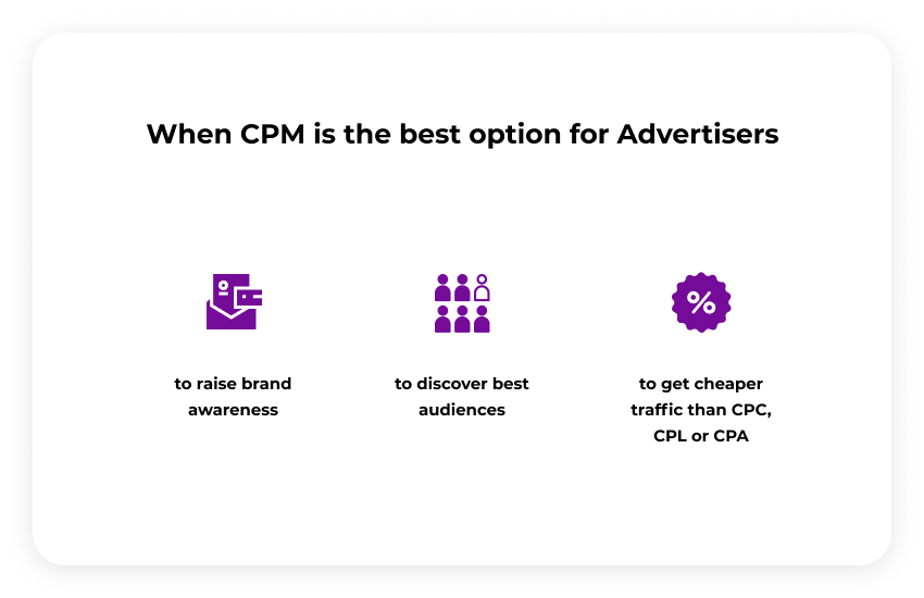 When CPM is best for advertisers